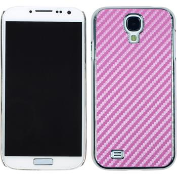 Hardcase for Samsung Galaxy S4 carbon optics hot pink
