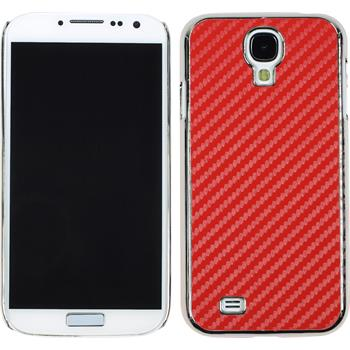 Hardcase for Samsung Galaxy S4 carbon optics red