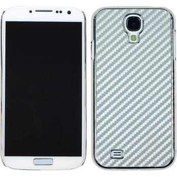 Hardcase Galaxy S4 Carbonoptik silber