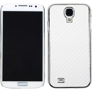 Hardcase for Samsung Galaxy S4 carbon optics white