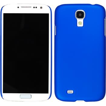 Hardcase for Samsung Galaxy S4 rubberized blue