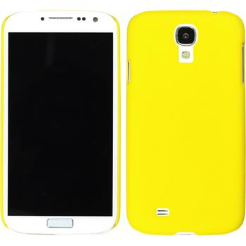 Hardcase for Samsung Galaxy S4 rubberized yellow