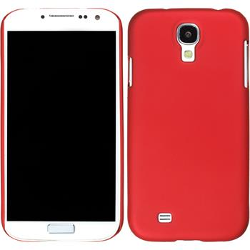 Hardcase for Samsung Galaxy S4 rubberized red