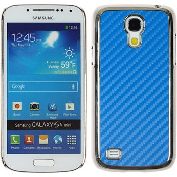Hardcase Galaxy S4 Mini Carbonoptik blau