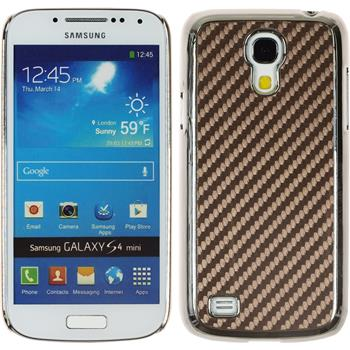 Hardcase Galaxy S4 Mini Carbonoptik braun
