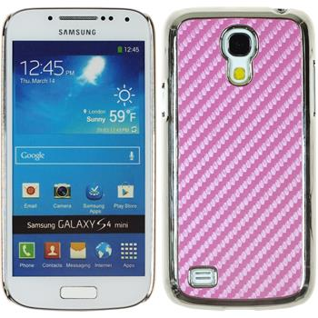 Hardcase Galaxy S4 Mini Carbonoptik rosa