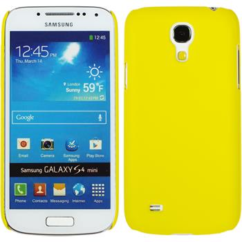 Hardcase for Samsung Galaxy S4 Mini rubberized yellow