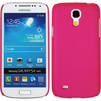 Hardcase for Samsung Galaxy S4 Mini rubberized hot pink