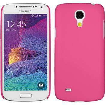 Hardcase für Samsung Galaxy S4 Mini Plus I9195 gummiert pink