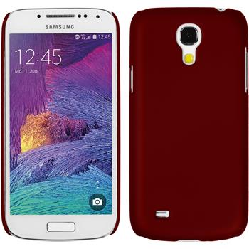 Hardcase Galaxy S4 Mini Plus I9195 gummiert rot + 2 Schutzfolien