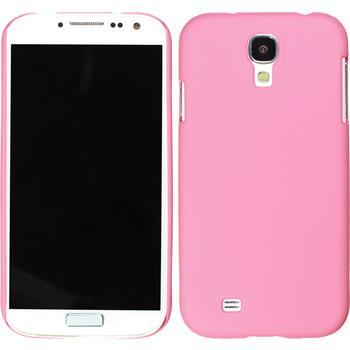 Hardcase Galaxy S4 gummiert rosa + 2 Schutzfolien