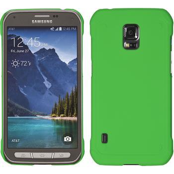 Hardcase Galaxy S5 Active gummiert grün