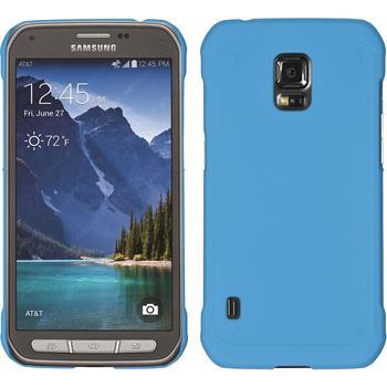 Hardcase Galaxy S5 Active gummiert hellblau