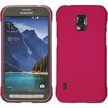 Hardcase Galaxy S5 Active gummiert pink