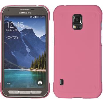 Hardcase Galaxy S5 Active gummiert rosa