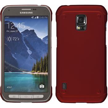 Hardcase Galaxy S5 Active gummiert rot