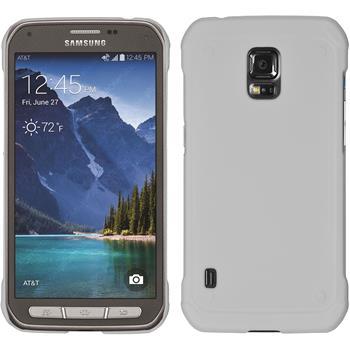 Hardcase für Samsung Galaxy S5 Active gummiert weiß