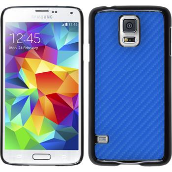 Hardcase for Samsung Galaxy S5 carbon optics blue