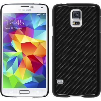 Hardcase für Samsung Galaxy S5 Carbonoptik schwarz