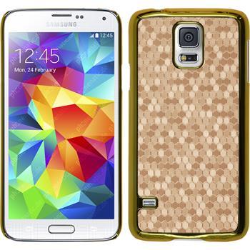 Hardcase für Samsung Galaxy S5 Hexagon gold
