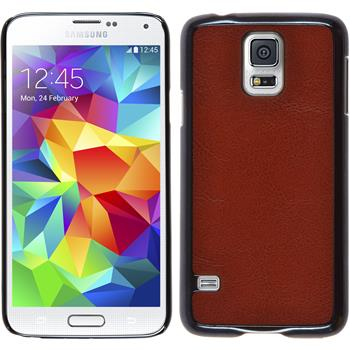 Hardcase for Samsung Galaxy S5 leather optics brown
