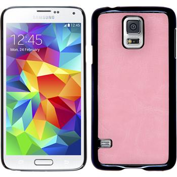 Hardcase for Samsung Galaxy S5 leather optics pink