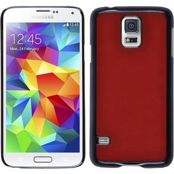 Hardcase for Samsung Galaxy S5 leather optics red