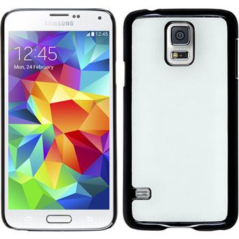 Hardcase for Samsung Galaxy S5 leather optics white