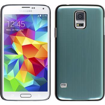 Hardcase for Samsung Galaxy S5 metallic light blue