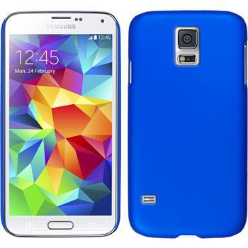Hardcase Galaxy S5 mini gummiert blau