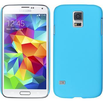 Hardcase Galaxy S5 mini gummiert hellblau