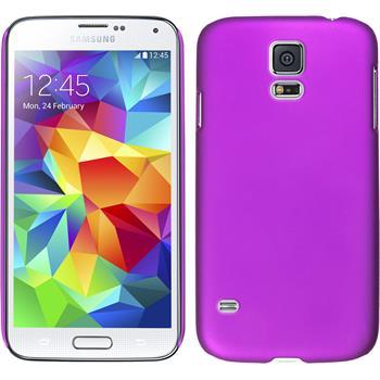 Hardcase für Samsung Galaxy S5 mini gummiert lila