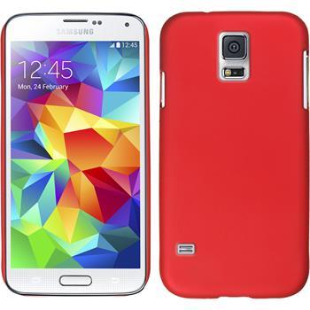 Hardcase Galaxy S5 mini gummiert rot