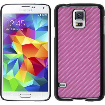 Hardcase Galaxy S5 Neo Carbonoptik pink