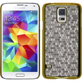 Hardcase Galaxy S5 Neo Hexagon silber + 2 Schutzfolien