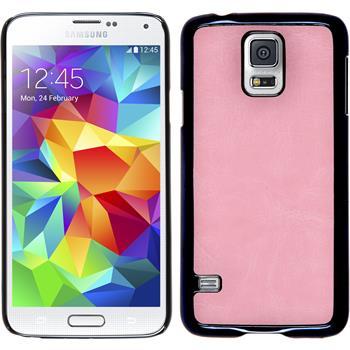 Hardcase Galaxy S5 Neo Lederoptik rosa