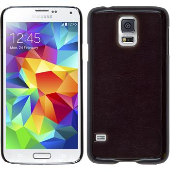 Hardcase für Samsung Galaxy S5 Neo Lederoptik schwarz