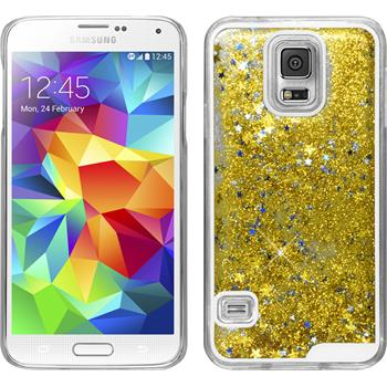 Hardcase Galaxy S5 Stardust gold + 2 Schutzfolien