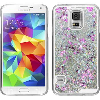 Hardcase Galaxy S5 Stardust silber