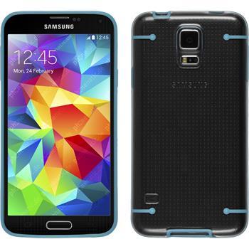 Hardcase Galaxy S5 transparent blau