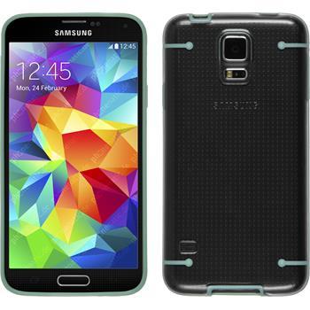 Hardcase Galaxy S5 transparent meergrün