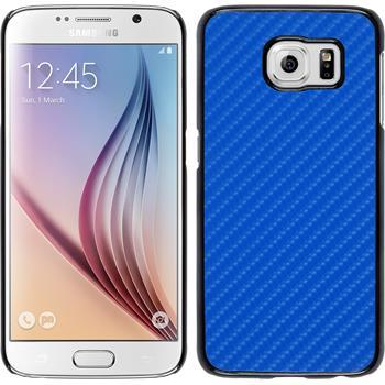 Hardcase Galaxy S6 Carbonoptik blau