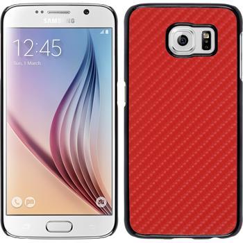 Hardcase für Samsung Galaxy S6 Carbonoptik rot