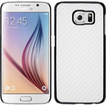 Hardcase Galaxy S6 Carbonoptik weiß