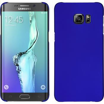 Hardcase Galaxy S6 Edge Plus gummiert blau