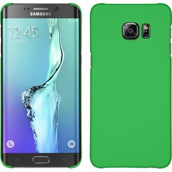 Hardcase Galaxy S6 Edge Plus gummiert grün