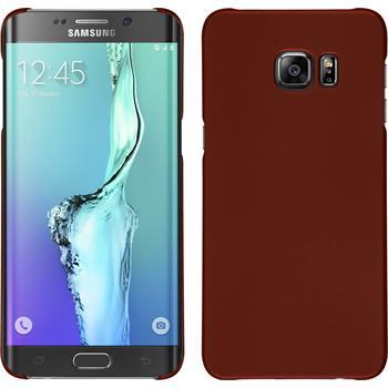 Hardcase Galaxy S6 Edge Plus gummiert rot