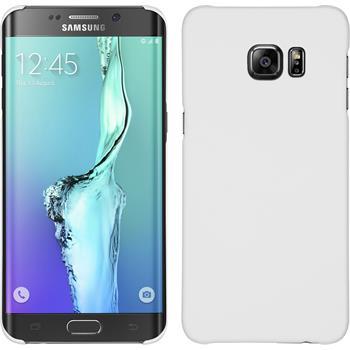 Hardcase für Samsung Galaxy S6 Edge Plus gummiert weiß