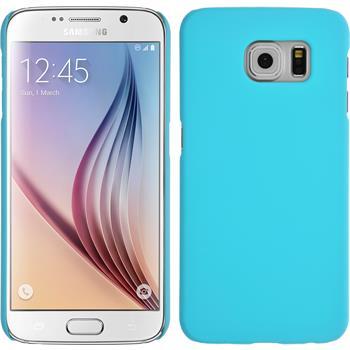 Hardcase für Samsung Galaxy S6 gummiert hellblau