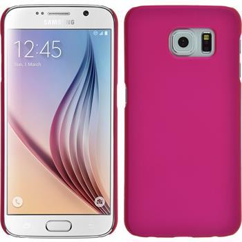 Hardcase Galaxy S6 gummiert pink + 2 Schutzfolien